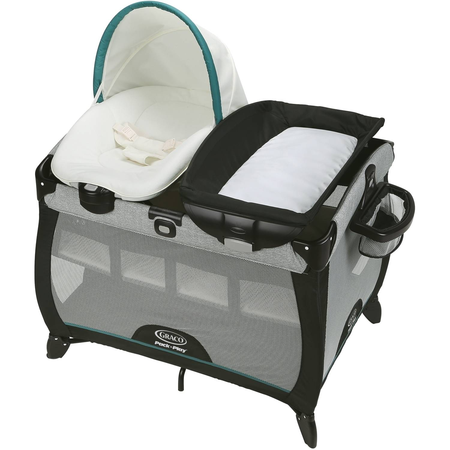 Graco Pack 'n Play Quick Connect Portable Napper with Bassinet, Darcie