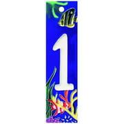 En Vogue NA-001 Aquarium Series 1 - Decorative Ceramic Art Tile - House Number - 2 in.x8.5 in.En Vogue