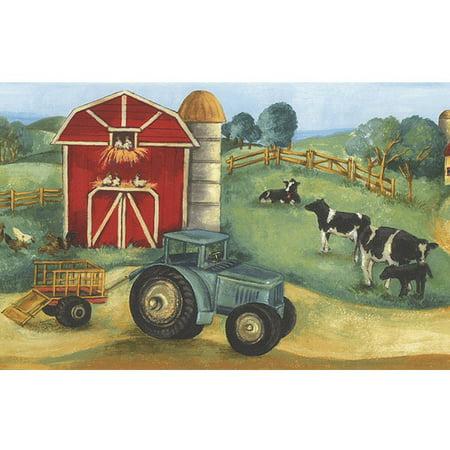 879027 Farm Scene Wallpaper (Farm Border)