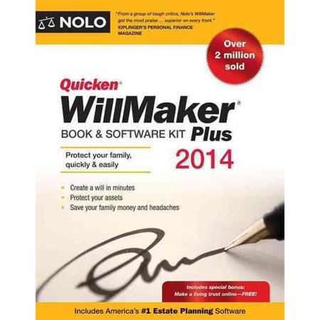 Quicken willmaker plus book amp software kit by nolo editors quicken willmaker plus book amp software kit by nolo editors solutioingenieria Image collections