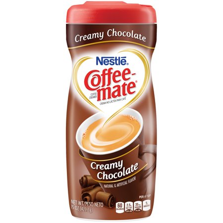Nestle Coffeemate Creamy Chocolate Powder Coffee Creamer 15 oz. Canister