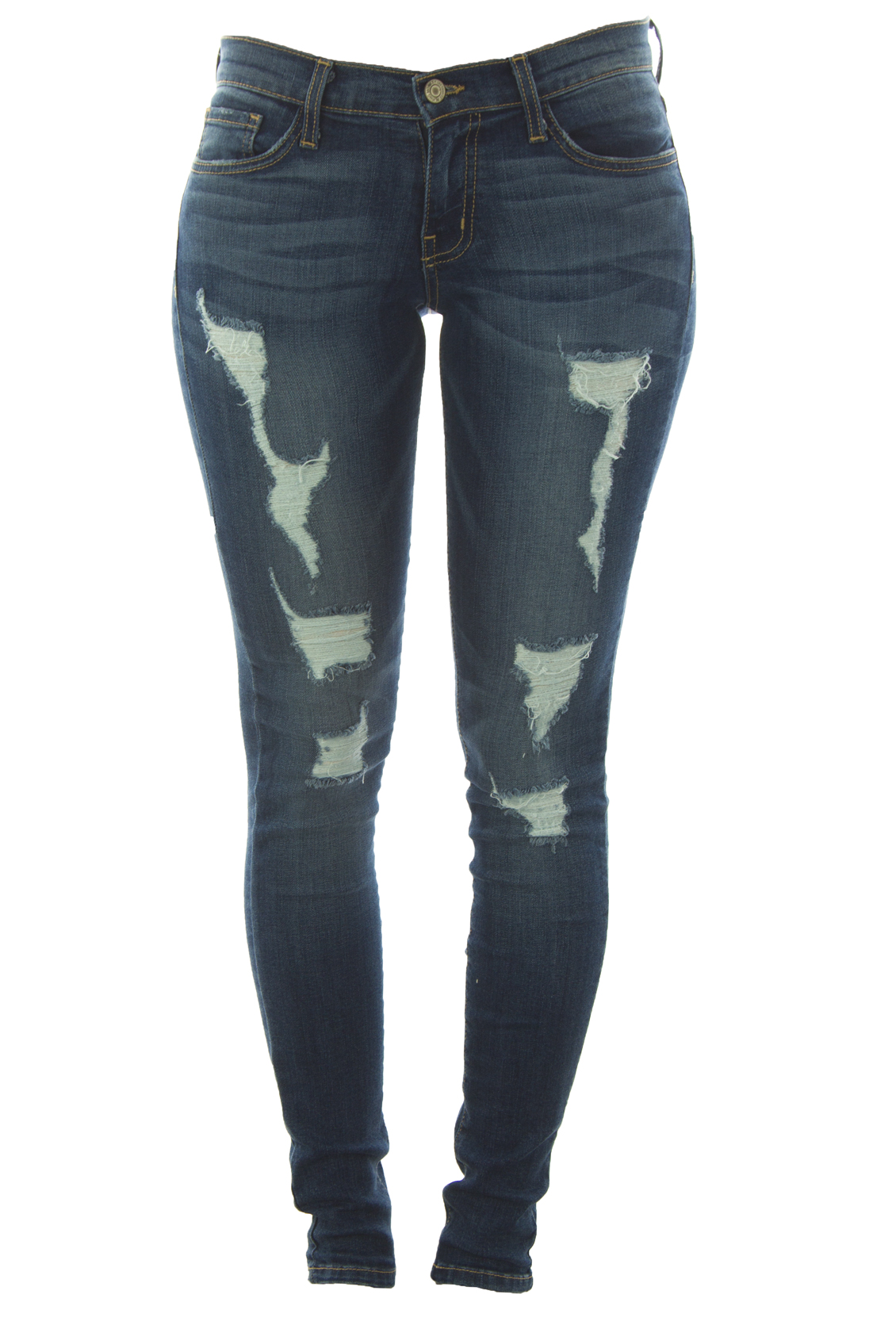 Flying Monkey Distressed Denim Skinny Jeans