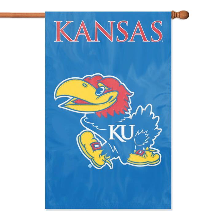 "KANSAS JAYHAWKS 44""x28"" 2-SIDED BANNER FLAG"