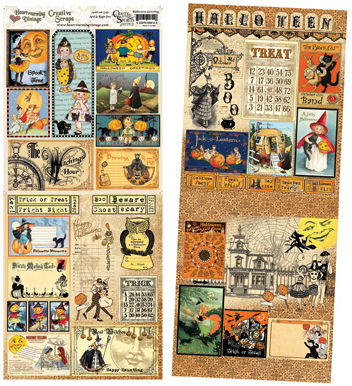 "Heartwarming Vintage Creative Scraps Double-Sided 19""X8""-Halloween Greetings"
