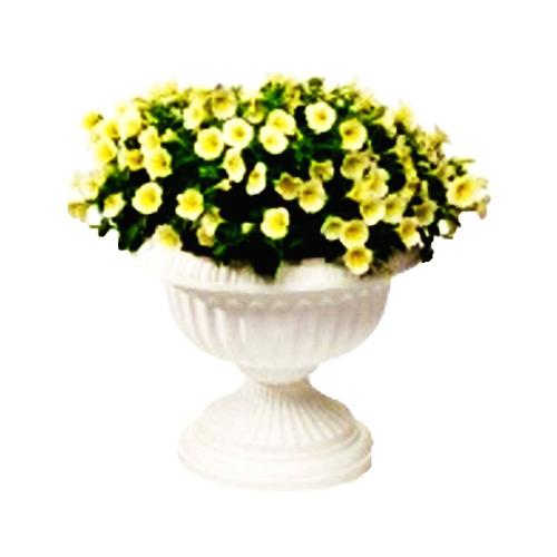 NOVELTY MFG CO Planter, Classic Urn, White, Resin, 14-In.