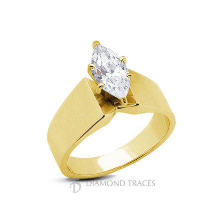 1.33ct E-VS2 Ideal Marquise AGI Genuine Diamond 18k Gold Modern Style Ring 9.2mm Marquise Vs2 Loose Diamonds