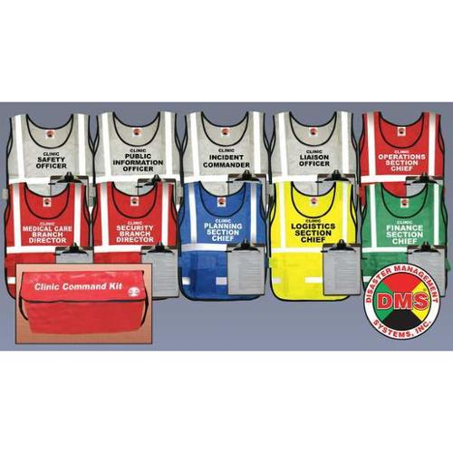DMS DMS 05466 Small Clinic Command Kit, 10 Vests