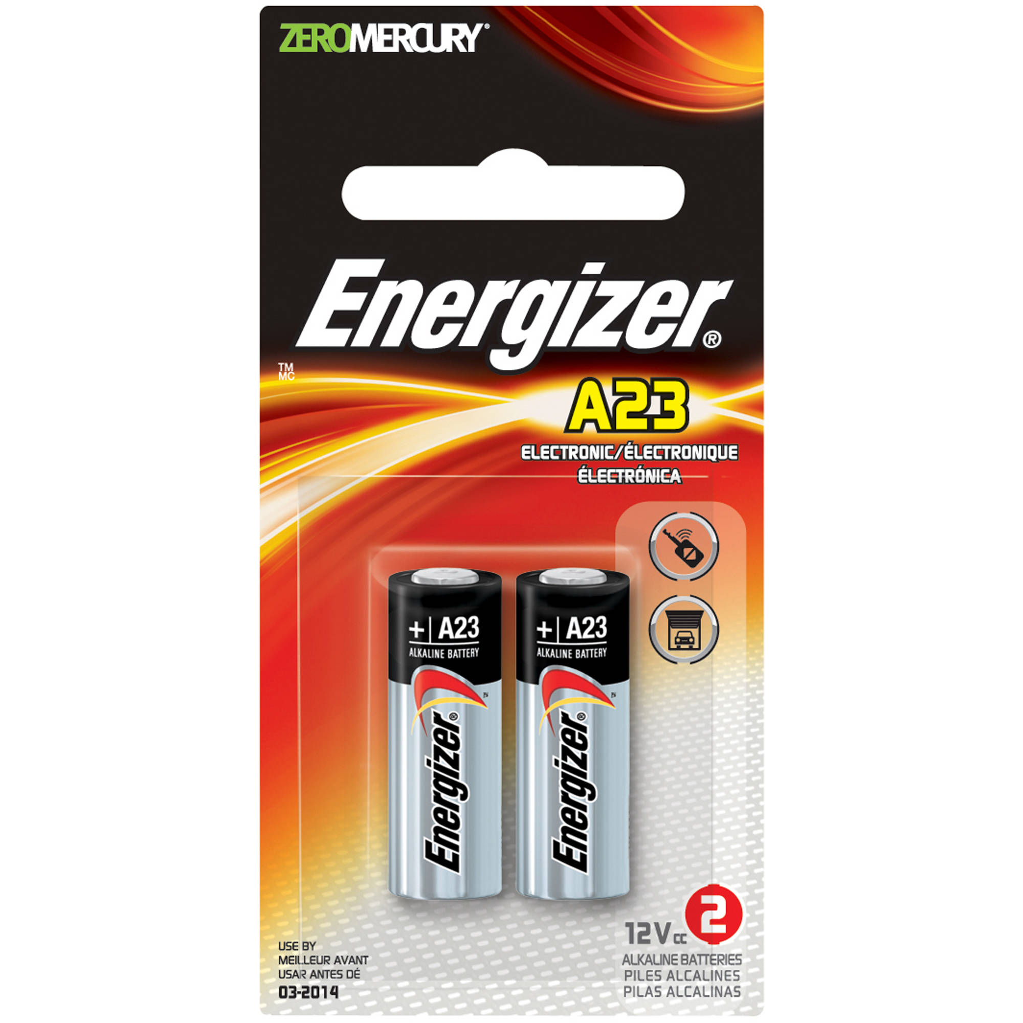Energizer Keyless Entry 12 V Batteries, A23, 2-Pack