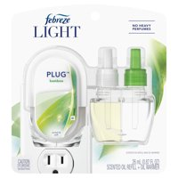 Febreze Plug Light Odor-Eliminating Air Freshener Bamboo, 1 Starter Kit
