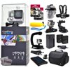 GoPro Hero 4 HERO4 Black CHDHX-401 with Two 32GB Ultra Memory + Solar Charger + Headstrap + Chest Harness + Floaty Bobber + Suction Cup + Opteka X-Grip + Large Padded Case + Two Batteries + More