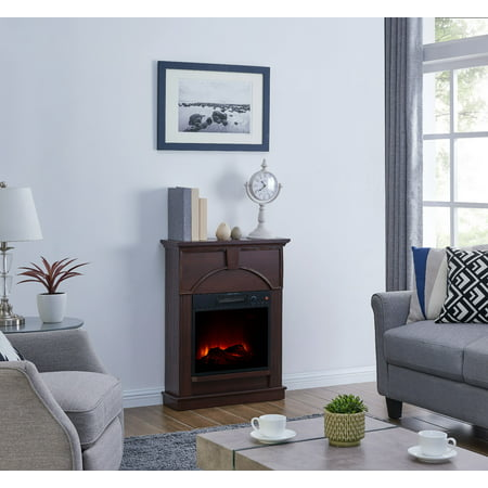 Bold Flame 48 inch Electric Fireplace in Dark Chocolate - Fire & Flames