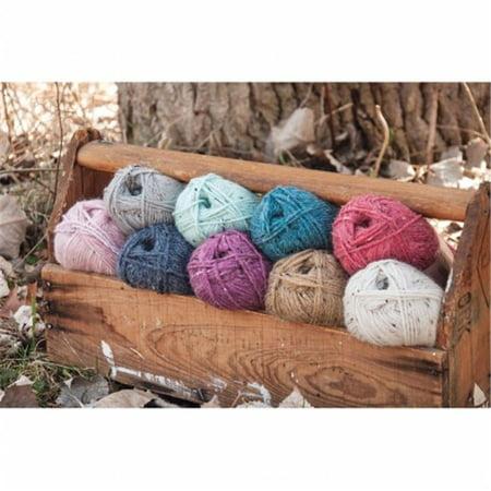 Natural Alpaca Tweed Yarn - Raw Cotton