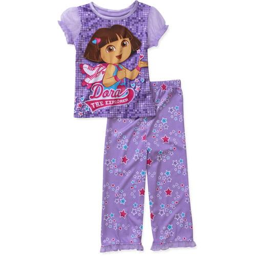 Nickelodeon Baby Girls' Dora 2 Piece Short Sleeve Pajama Set