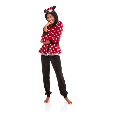 bccf73a5cbe8 Minnie Mouse - Disney s Women s and Women s Plus Licensed Sleepwear Adult  One Piece Costume Union Suit Pajama (XS-3X) - Walmart.com