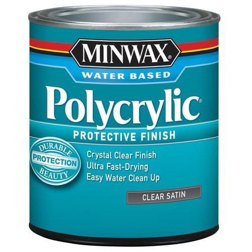Minwax Polycrylic Protective Finish, 1 Qt, Satin