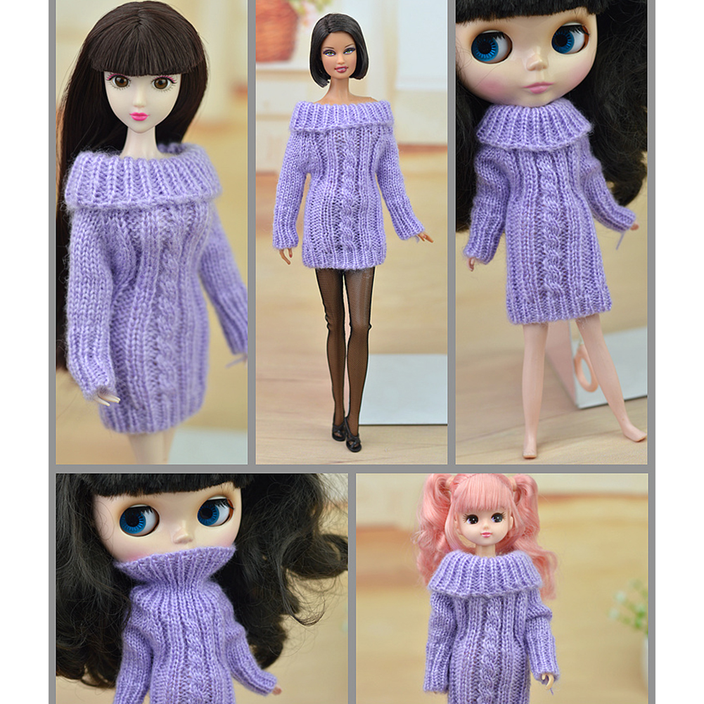 30cm Fashion Knitted Handmade Sweater Clothing for Dolls Style:white - image 4 of 6