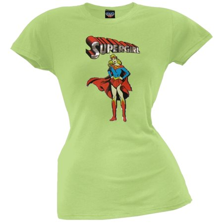 Supergirl - Standing Juniors T-Shirt (Supergirl T Shirt For Women)