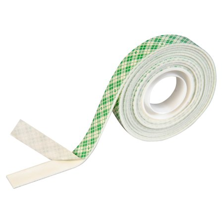 Double Stick Foam Tape (Scotch Double Coated Permanent Mounting Tape, 1/2 W X 75 L in, 2 lb, Clear, High Density)
