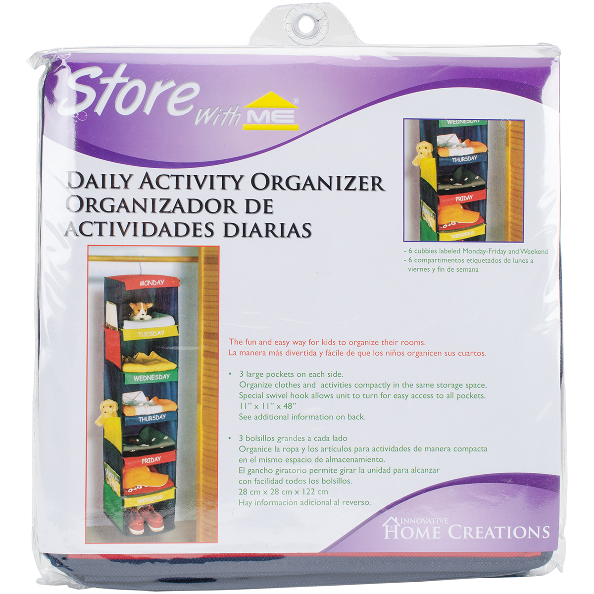 Innovative Home Creations Daily Activity Organizer, 6 Cubbies