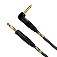 "Mogami GOLD INSTRUMENT-06R Guitar Instrument Cable, 1/4"" TS Male Plugs, Gold Contacts, Right Angle and Straight Connectors, 6 Foot"