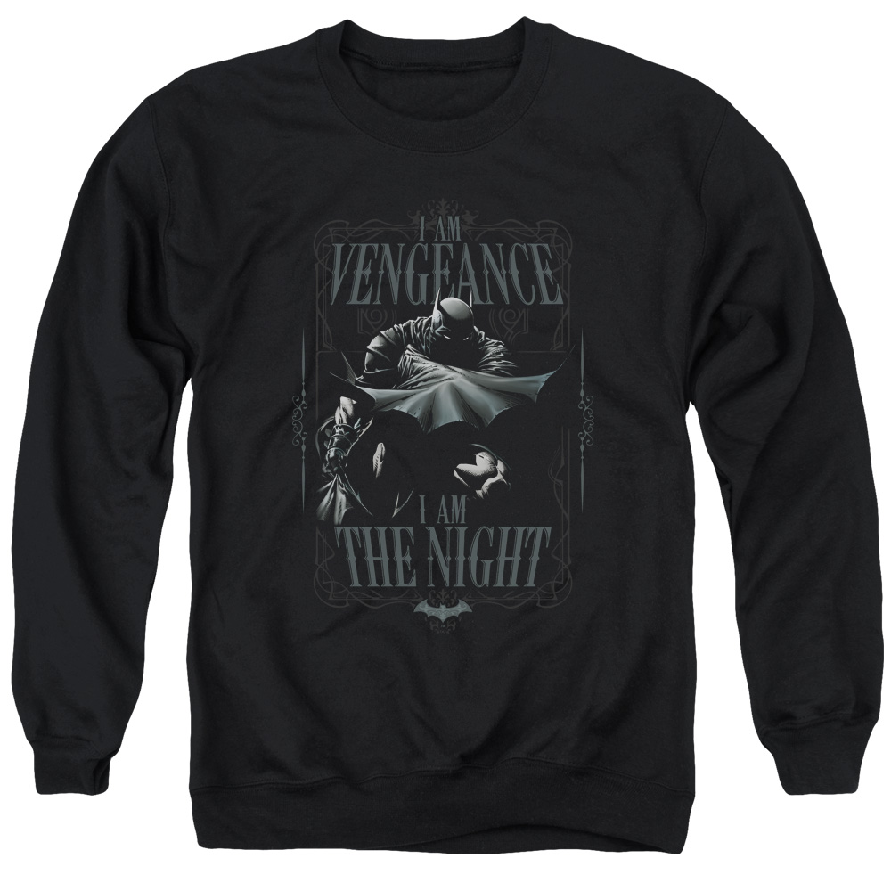 Batman DC Comics I Am Vengeance I Am the Night Adult Crewneck Sweatshirt