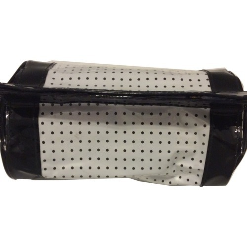Lancome Black and White Polka Dot Makeup Cosmetic Bag