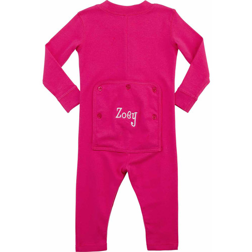 Personalized Infant Name Long John, Hot Pink