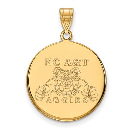 10K Yellow Gold Logoart Official Licensed Collegiate North Carolina A State University  N C  A  Large Disc Pendant