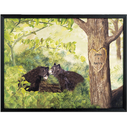 """Personalized Lovers' Heart Canvas Framed Art, 11"""" x 14"""""""
