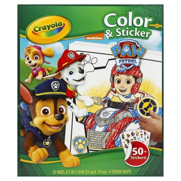 Crayola Nickelodeon Paw Patrol Color & Sticker, 1 set