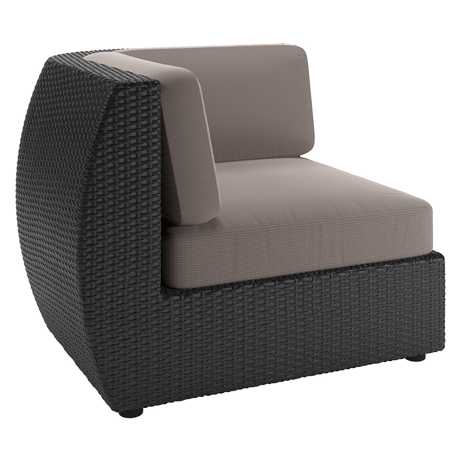 CorLiving Seattle Patio Corner Seat, Textured Black Weave