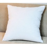 "Tayyakoushi Premium Hypoallergenic Stuffer Pillow Insert Sham Square Form Polyester, 18"" L X 18"" , Standard/White"