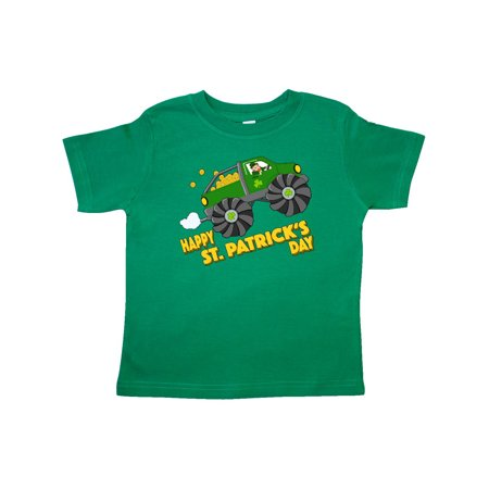 Happy St. Patrick's Day monster truck with leprechaun Toddler T-Shirt - Happy Monster