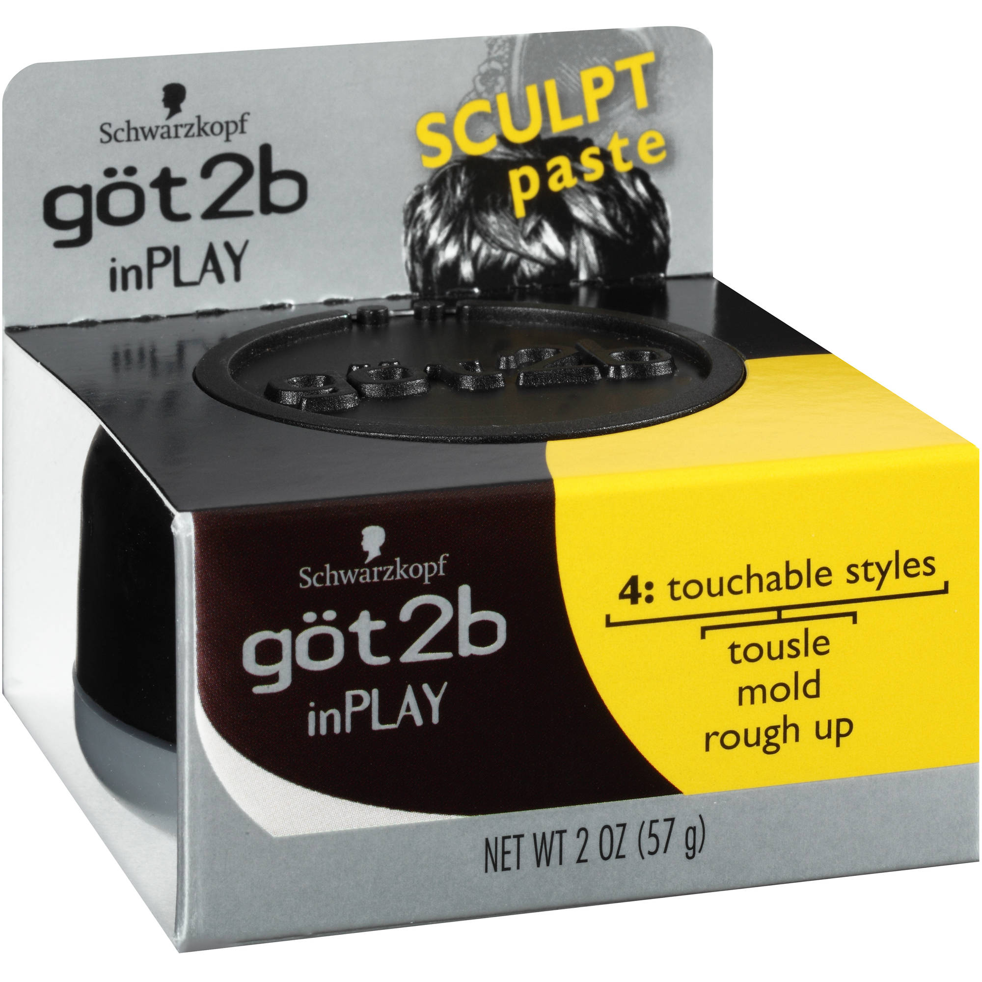 Schwarzkopf got2b inPlay Sculpt Paste, 2 oz