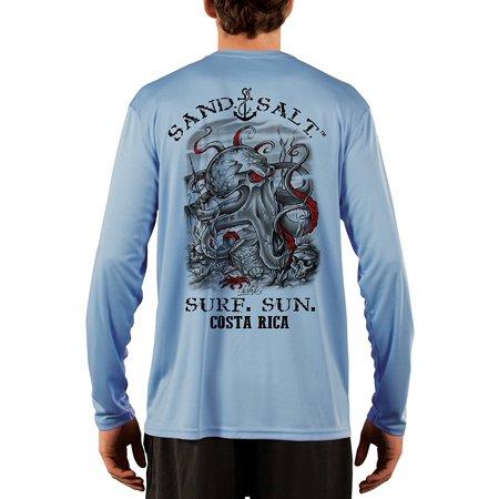 Costa Rica Octopus Treasure Men's UPF 50+ UV/Sun Protection Long Sleeve T-Shirt - Halloween Costa Rica 2017