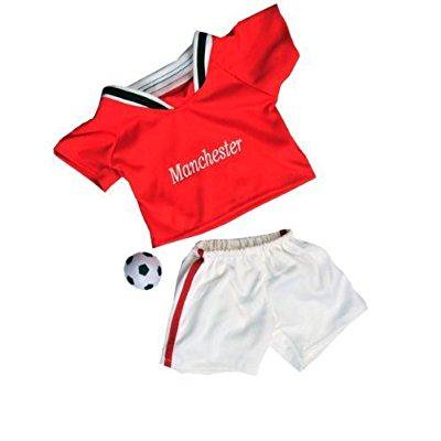 Decorate Your Own Soccer Ball (manchester soccer w/ball uniform outfit teddy bear clothes fits most 14 - 18 build-a-bear, vermont teddy bears, and make your own stuffed)