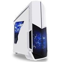 SkyTech ArchAngel Gaming Computer Desktop PC Ryzen 1200 3.1GHz Quad-Core, Nvidia Geforce GTX 1060 3GB, 8GB DDR4 2400, 1TB HDD, 24X DVD, Wi-Fi USB, Windows 10 Home 64-bit