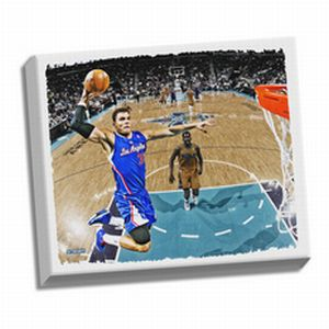 Los Angeles Clippers Blake Griffin Dunk Stretched 32x40 Canvas