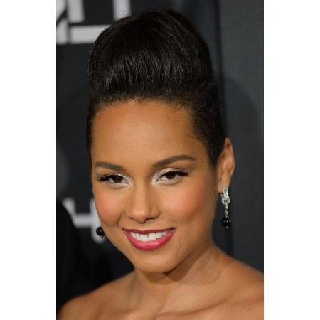 Alicia Keys At Arrivals For Keep A Child AliveS 11Th Annual Black Ball Hammerstein Ballroom New York Ny October 30 2014 Photo By Kristin CallahanEverett Collection Photo Print