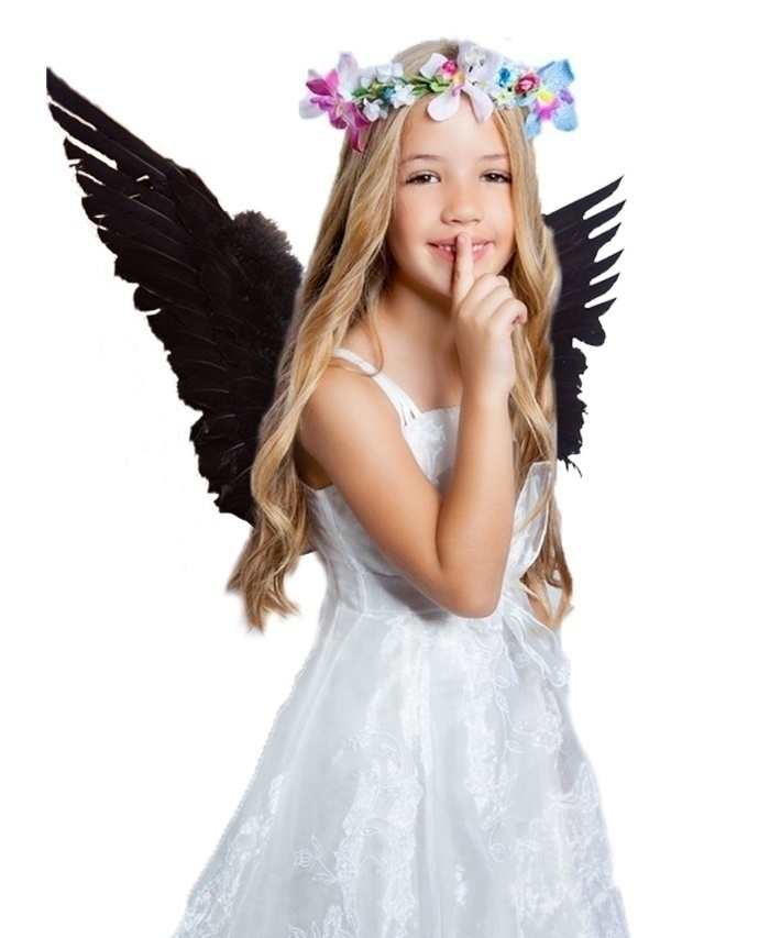 Kids Babys Dreamy Angel Feather Wings Cosplay Party Costumes Photo Props Sweet