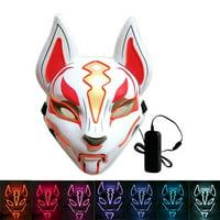 Fortnite Fox Drift LED Mask Masquerade Costume Mask Halloween Rave Party Animal Mask