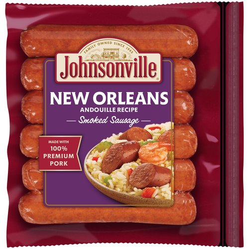 Johnsonville New Orleans Brand Andouille Recipe Smoked Sausage, 14 oz