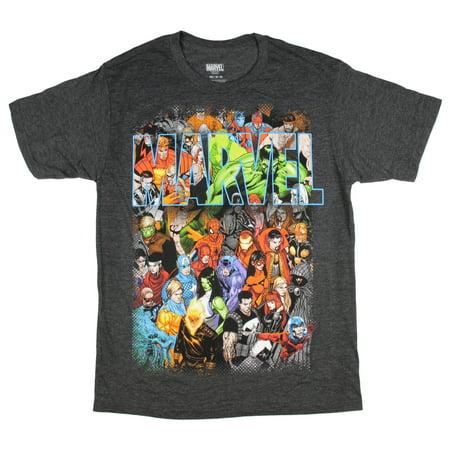 Marvel Comics T Shirt Men's Cartoon Comic Book Universe Characters (Marvel Comics Universe)