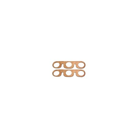 MACs Auto Parts Premier  Products 28-24825 Model A Ford Intake & Exhaust Manifold Gaskets - Copper Clad Asbestos-Like Type - With Glands Built In - 2 Pieces - -