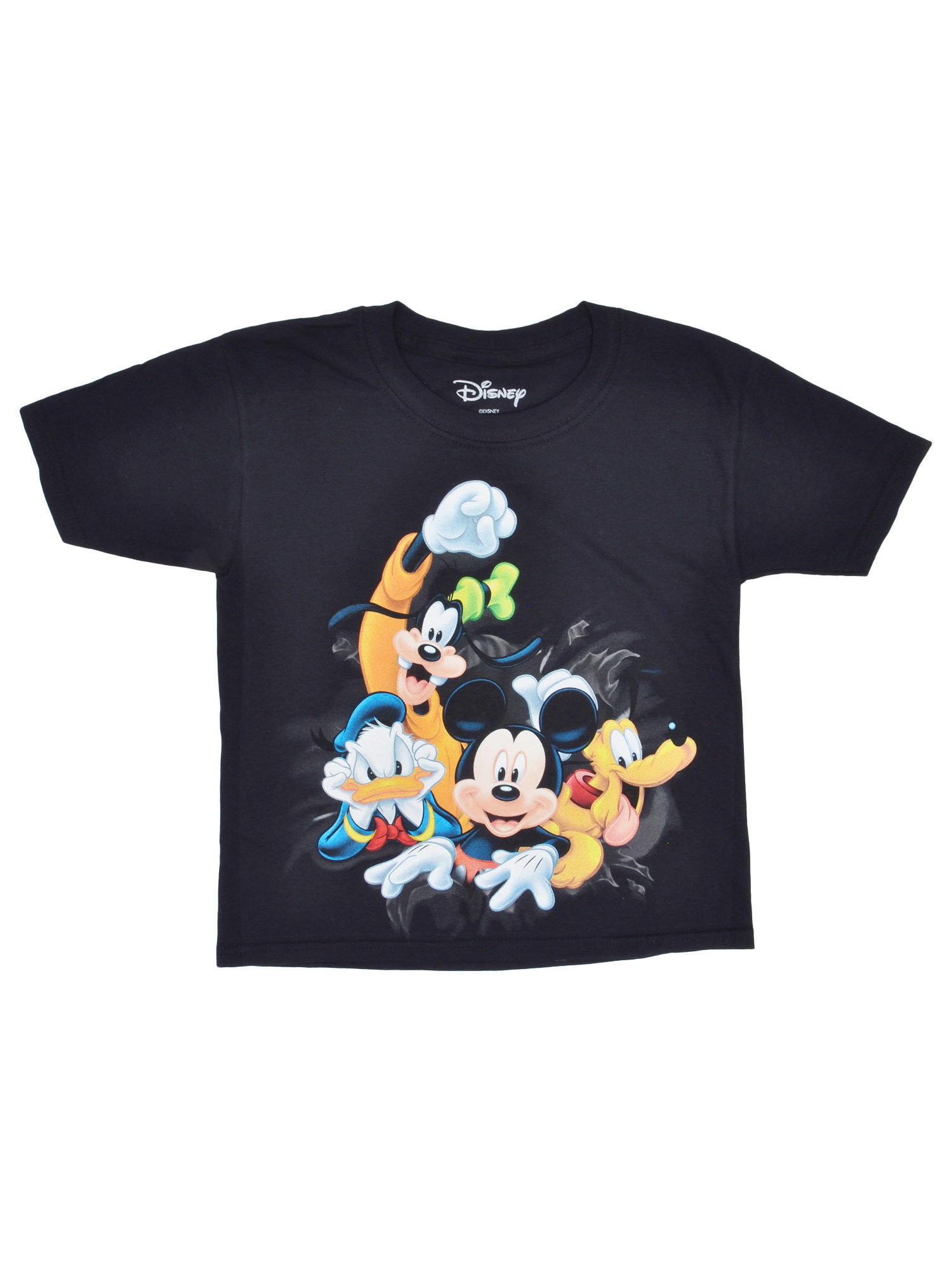 Girls Disney Mickey Mouse & Friends Front & Back T-Shirt Black