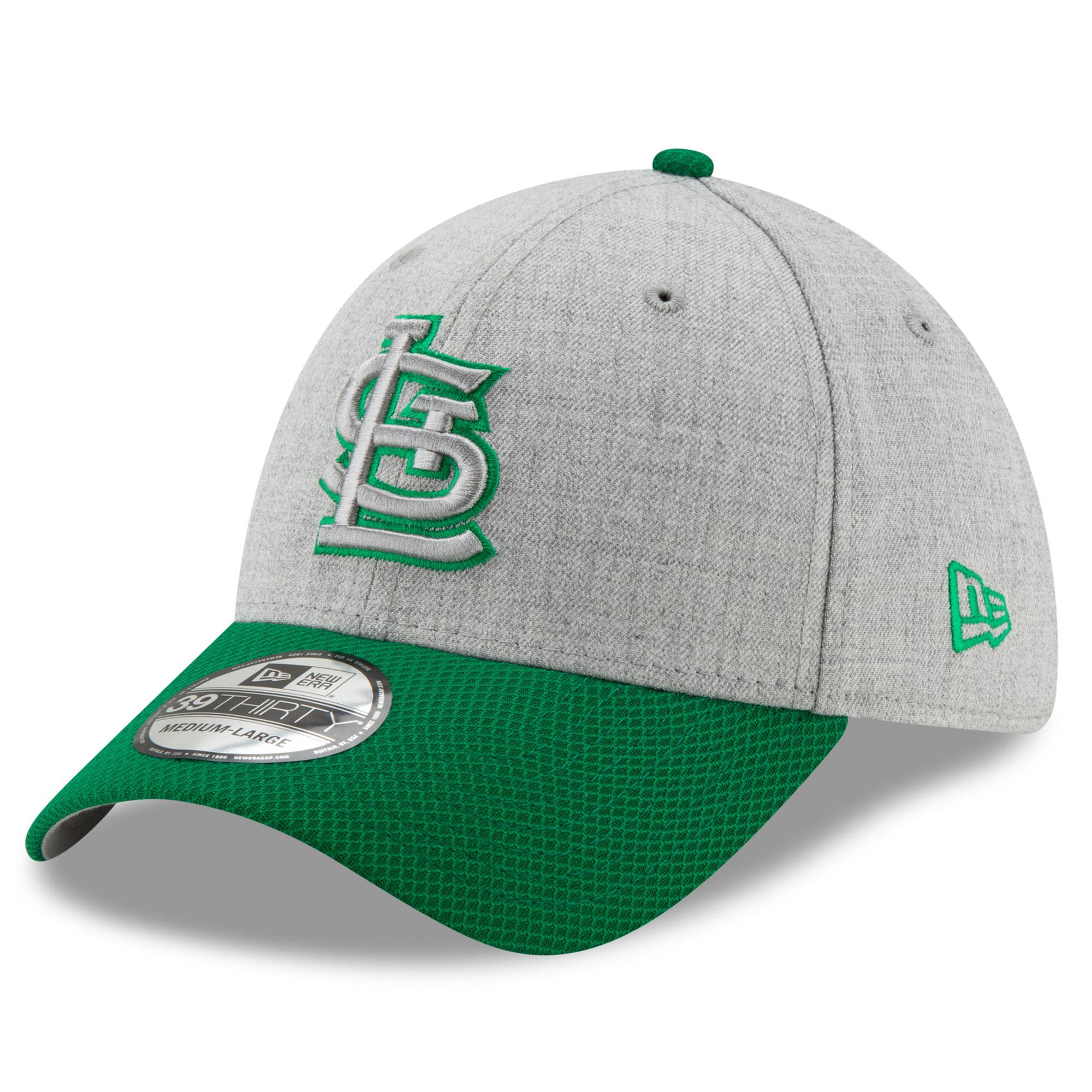 St. Louis Cardinals New Era St. Patrick's Day Change Up Redux 39THIRTY Flex Hat - Gray/Green