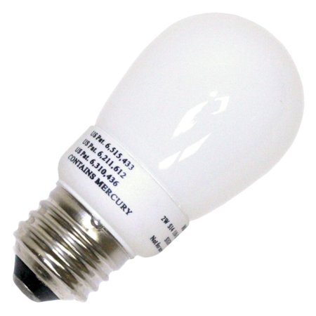 Litetronics 38040 - MB-201 2W S14 WH SW Cold Cathode Screw Base Compact Fluorescent Light Bulb