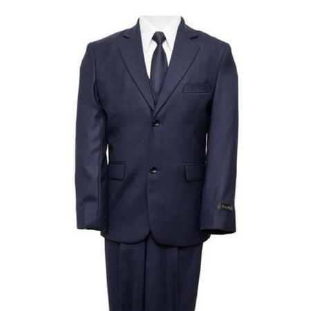 Stitch 3 Button Suits - Mens Suits  2 Button Front Closure Interior Pick Stitching Boys Suits  Navy - 3