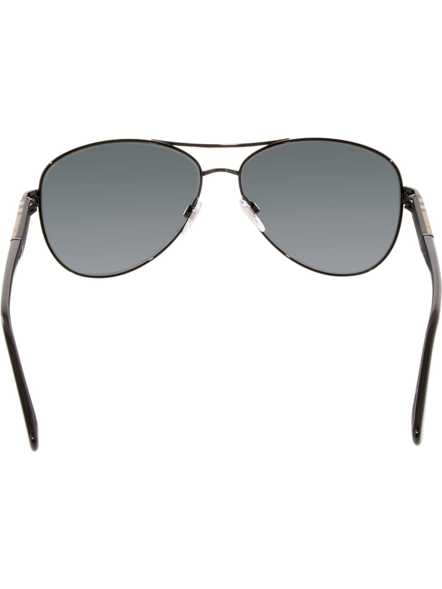 98dbab3104 Burberry - Burberry Men s BE3080-100187-59 Black Aviator Sunglasses -  Walmart.com