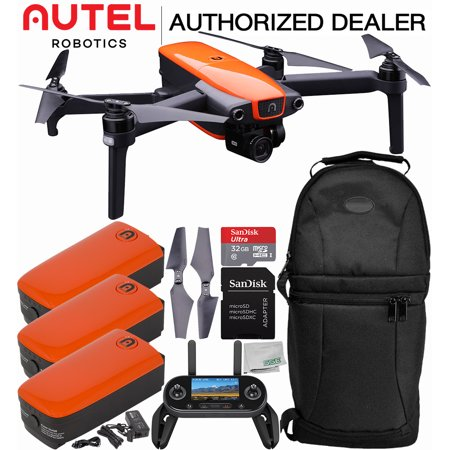 Autel Robotics EVO Foldable Quadcopter with 3-Axis Gimbal Ultimate Backpack Bundle